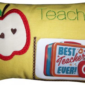 Teacher Pillow In The Hoop