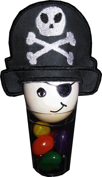 Easter Eggs Hats - Pirate Hat In The Hoop