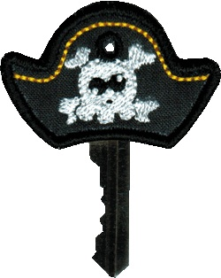 Key Cover - Pirate Hat In The Hoop