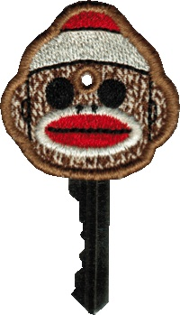 Key Cover - Sock Monkey Boy In The Hoop