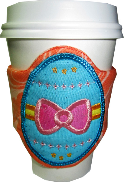 Easter Egg Cup Cozy Wrap  In The Hoop