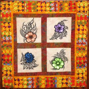 Mylar Tribal Flowers Set