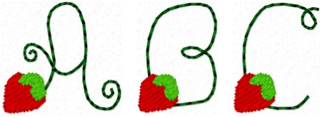Strawberry Font - 3/4""