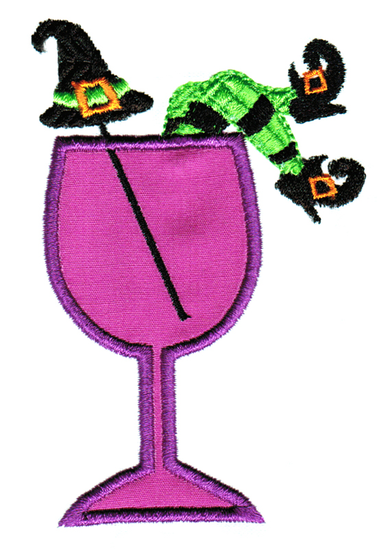 Creepy Cocktails Applique Single 05