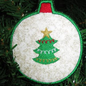 Tree Ornament Coaster In The Hoop