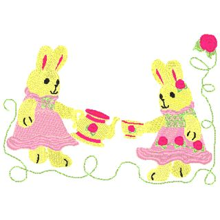 Tea Bunnie and Tea Rose Bunnie