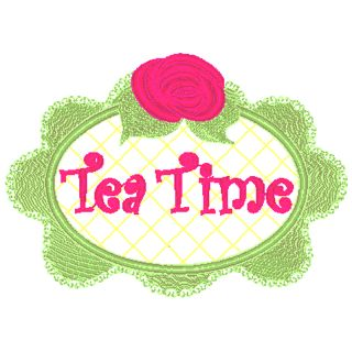Tea Time Bunnie Rose Frame