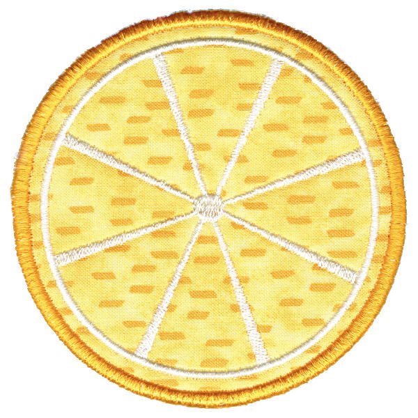 Lemon Round Coaster In The Hoop