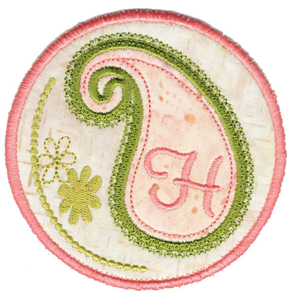 Paisley Font Round Coaster In The Hoop