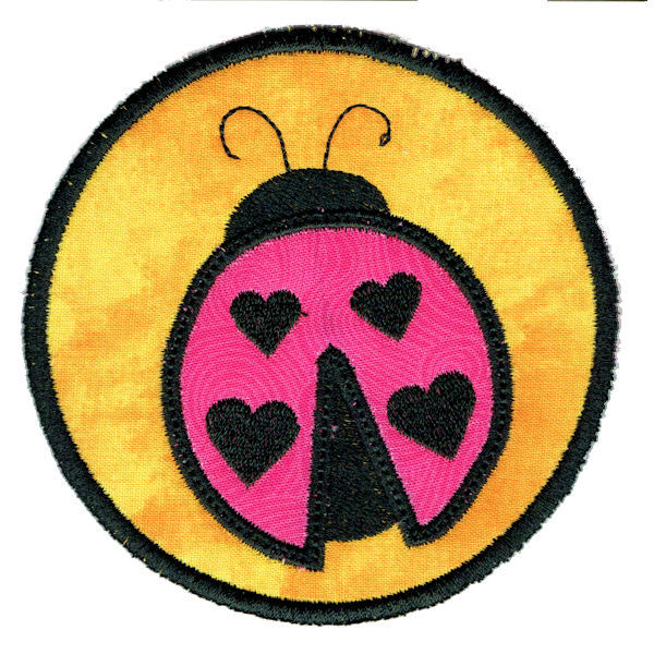 Ladybug Round Coaster In The Hoop