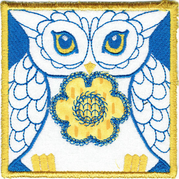 Owl Square Coaster In The Hoop