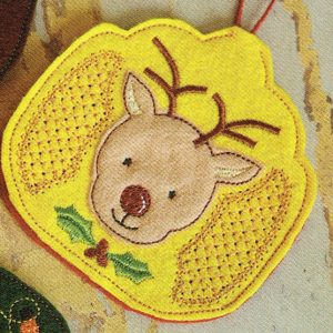 Reindeer Air Freshener Cover In The Hoop Single