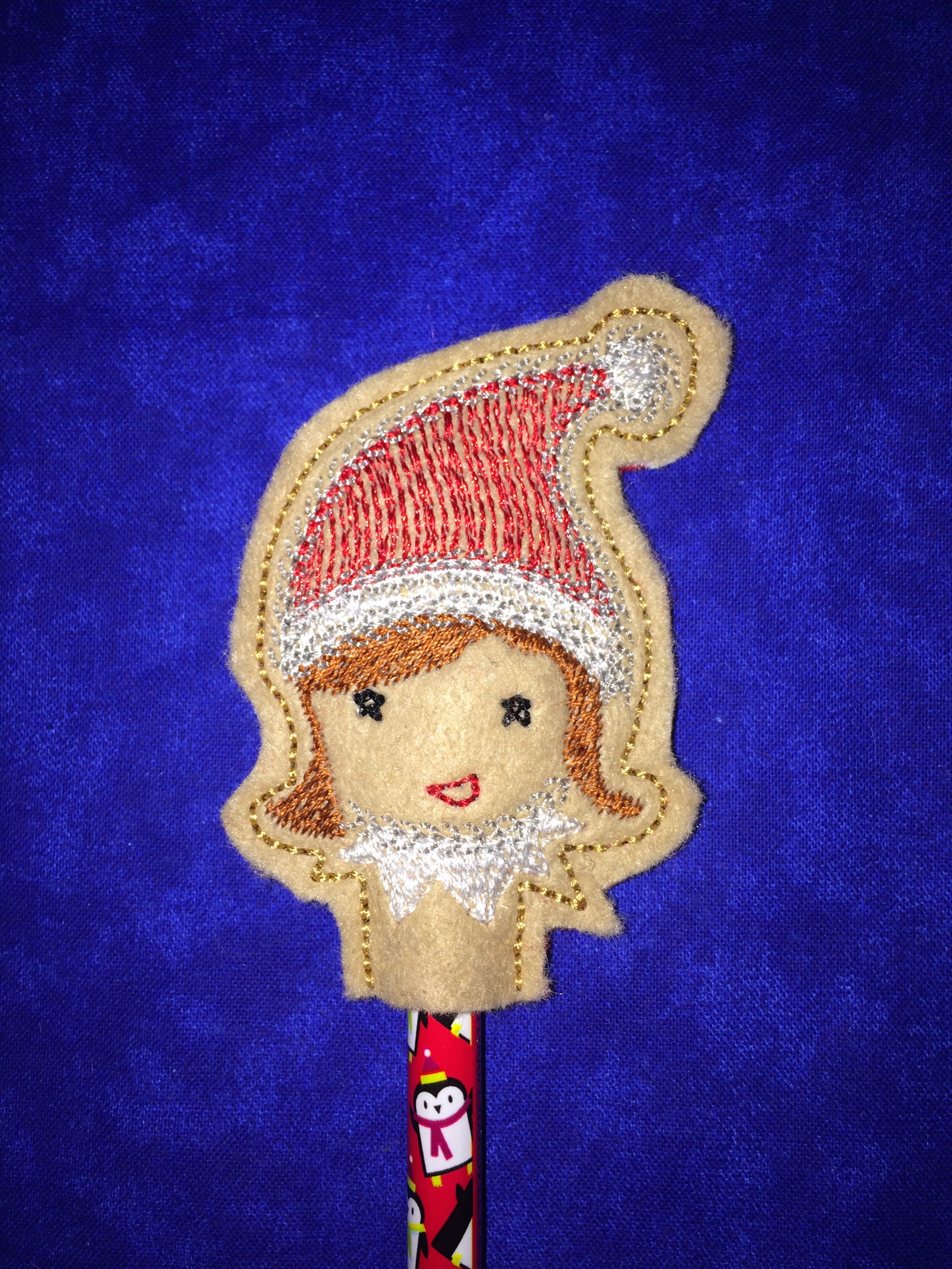 Elf GIRL Pencil Topper In The Hoop Single