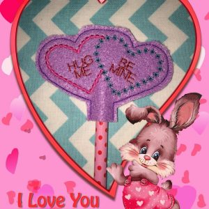 Double Heart Pencil Topper In The Hoop Single