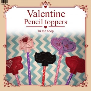 Valentines Day Pencil Topper In The Hoop - Set