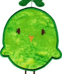 St. Patty Birdie Applique - 2 Sizes