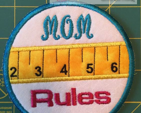 Coaster – In The Hoop Mom Rules Coaster