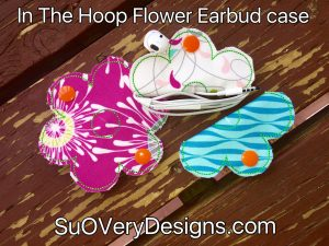 Flower Earbud Case In The Hoop