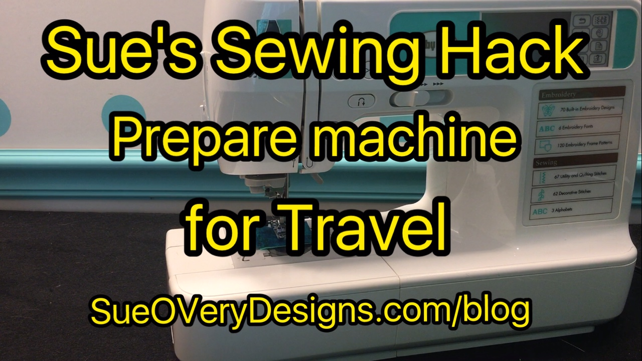 Prepare Sewing Machine for Travel