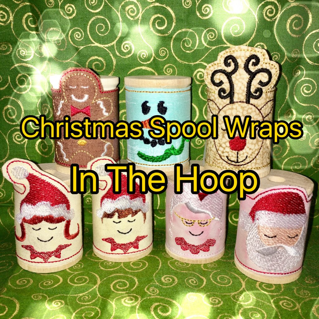 Christmas Wooden Spool Wraps in the Hoop machine ... - photo#34