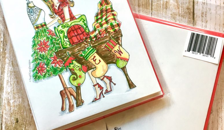 Sew Christmas Note Cards