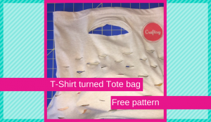 T-Shirt Tote Bag-Upcycle TShirt turned Tote Bag in a snap