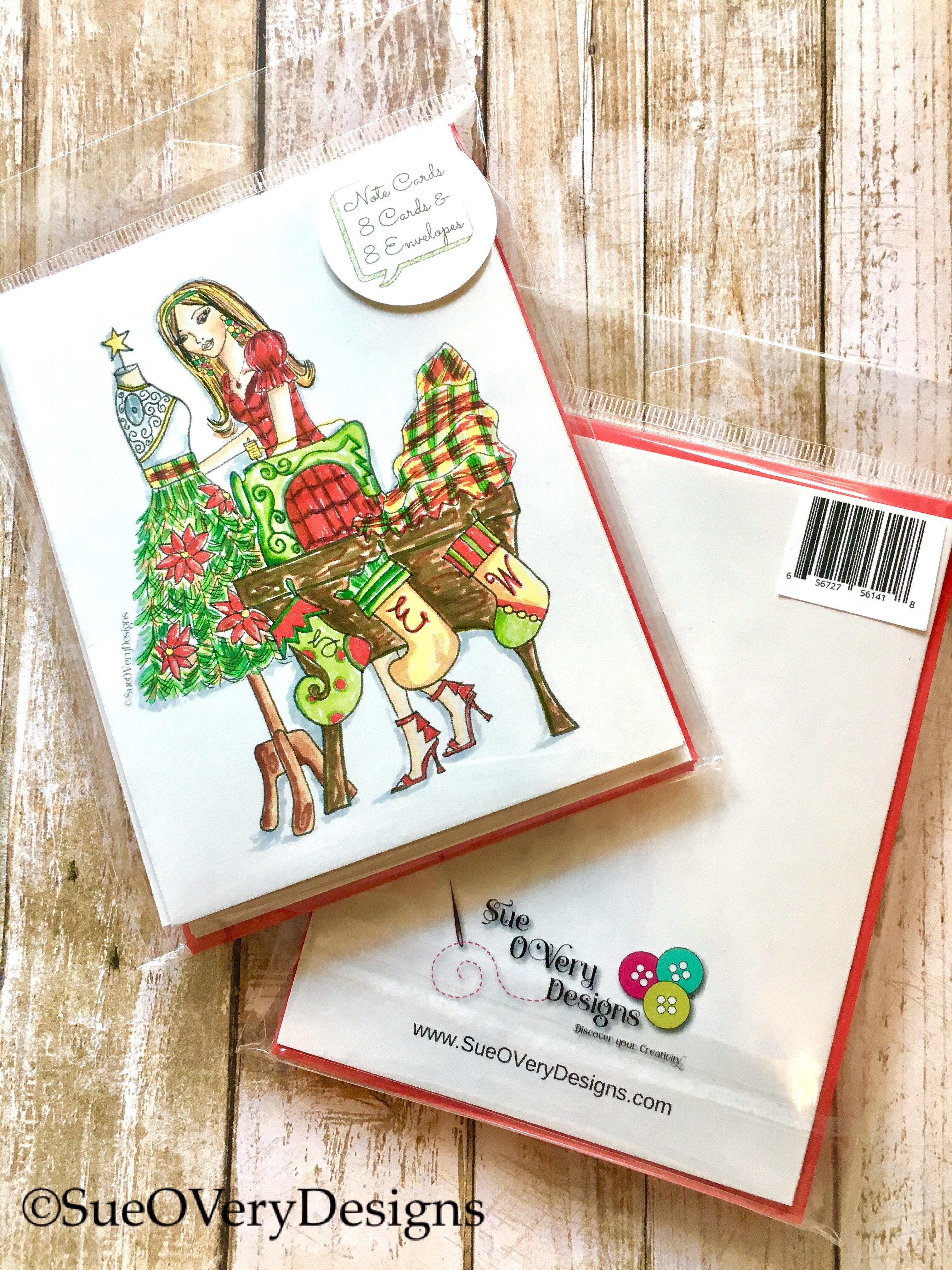 Sew Christmas Cards 8/pack FREE Shipping