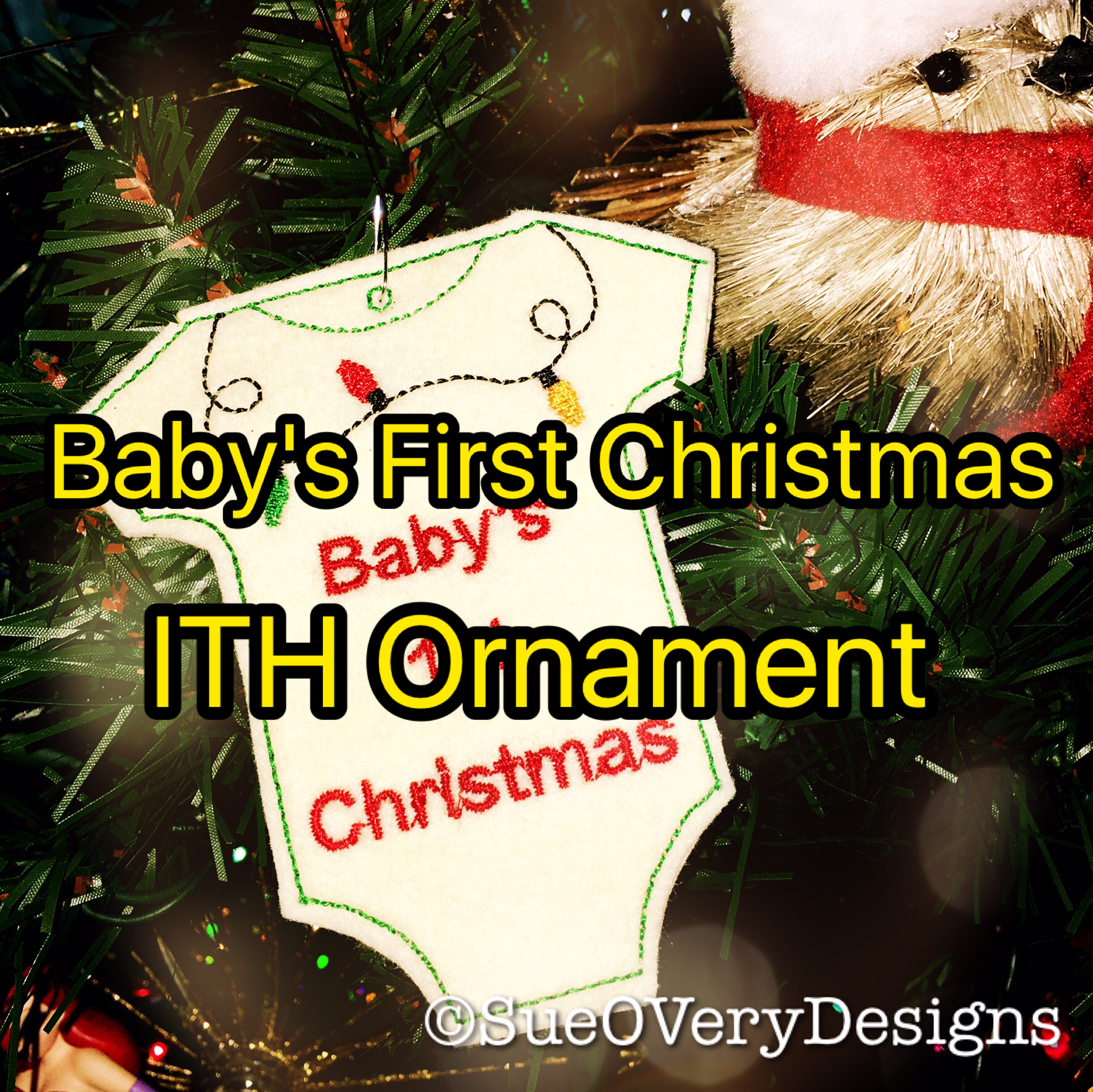 Baby's First Christmas ITH Ornament