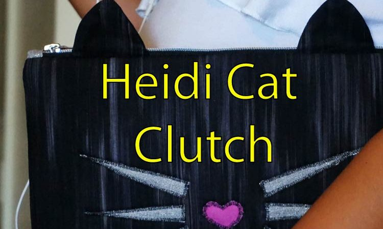 Heidi Cat Clutch – Sewing and applique purse