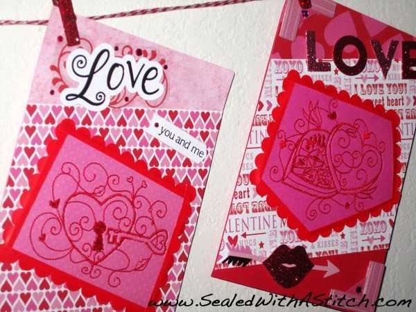 Machine Embroidered Valentine's Card – In the Hoop