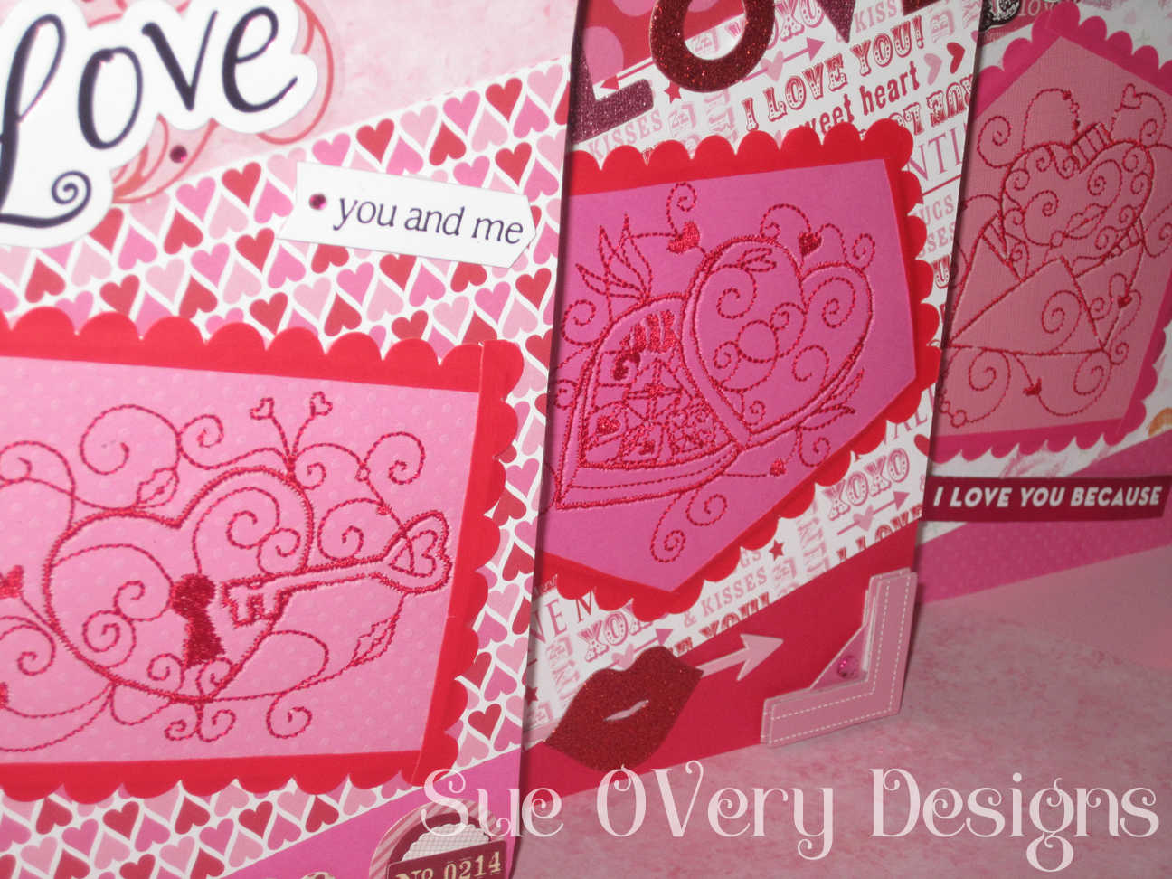 Free Machine Embroidery In The Hoop Valentines Day Card Tutorial