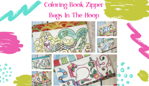 coloring book in the hoop ITH coloring book