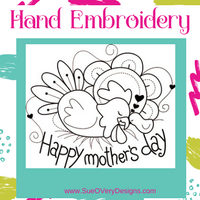 mother's day hand embroidery free