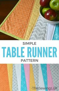 simple table runner free spring sewing pattern