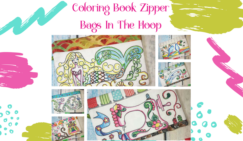 Clever and Easy Coloring Book Zipper Bags – Made In the Hoop
