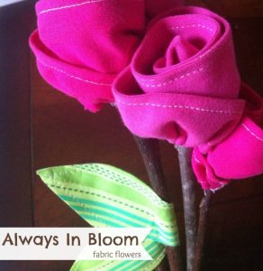 fabric flowers spring sewing projects