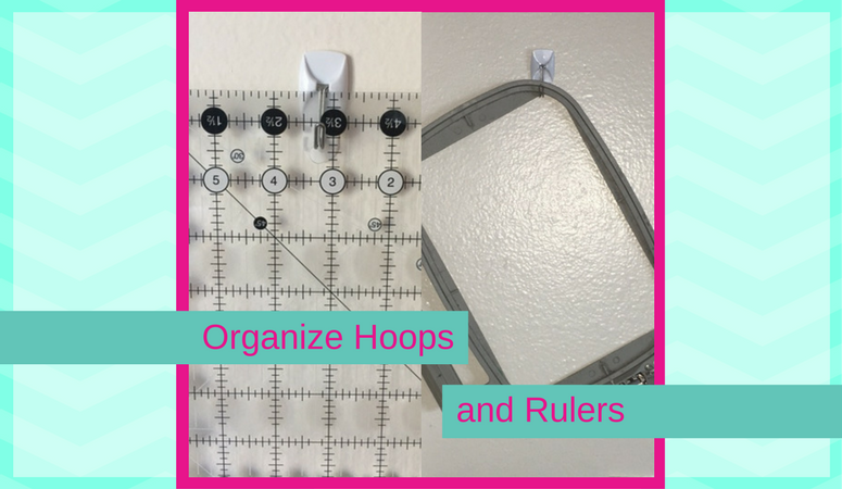 Affordable and Simple solution to organizing hoops and rulers