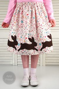 bunny skirt free pattern spring sewing pattern