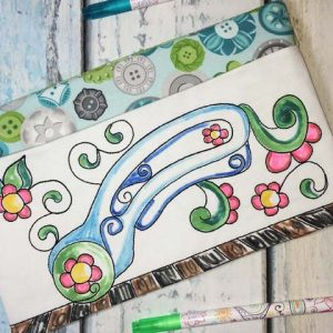 Coloring Book Zipper Bag In The Hoop - Rotary Cutter