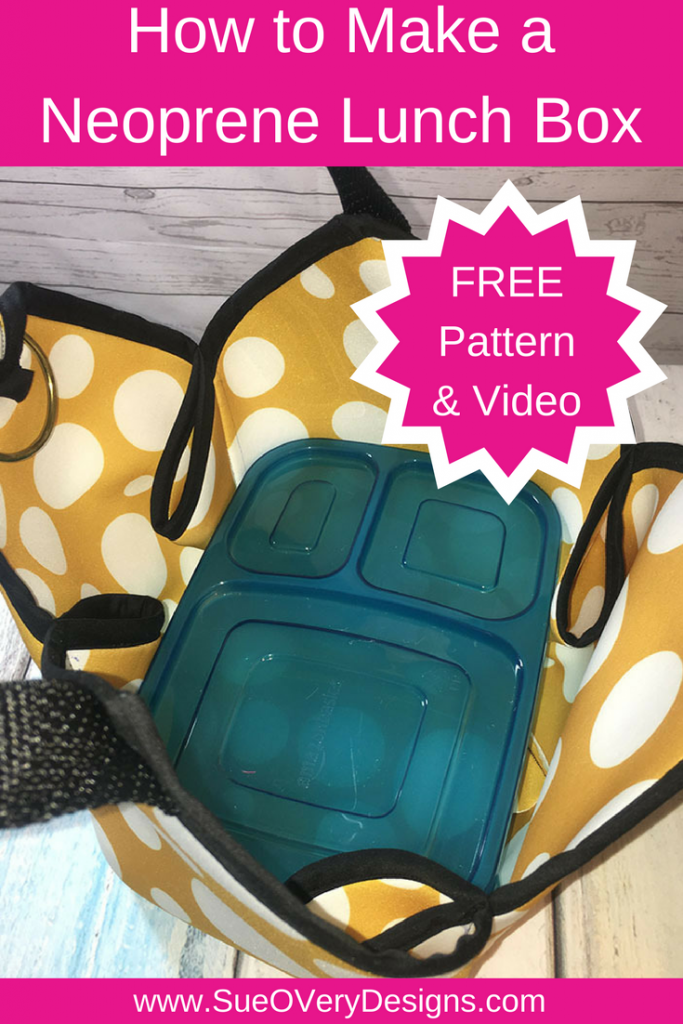 how to make a neoprene lunchbox by sue overy designs