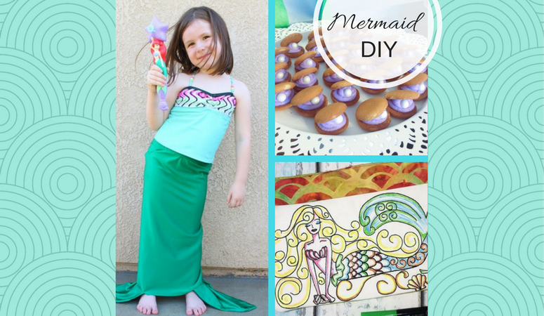 12 Special, Magical, Unique and Easy Mermaid DIY Projects Roundup