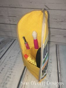 row by row license plate traveling zipper catch all by sue overy designs zipper catch all