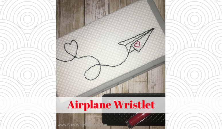 How to Hand Embroider – Airplane On the Go Wristlet