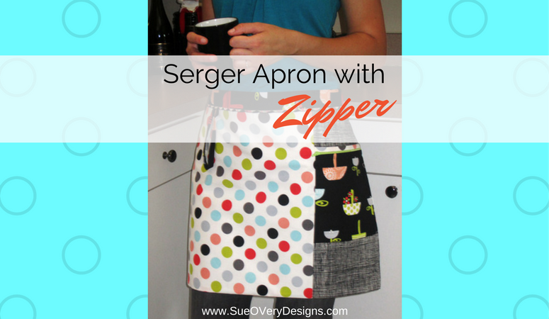 How to make a Serger Apron with a Zipper pocket – Serger pattern