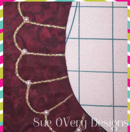 in the hoop Victorian Textured stocking, in the hoop stocking, stocking, how to make an in the hoop stocking, easy in the hoop
