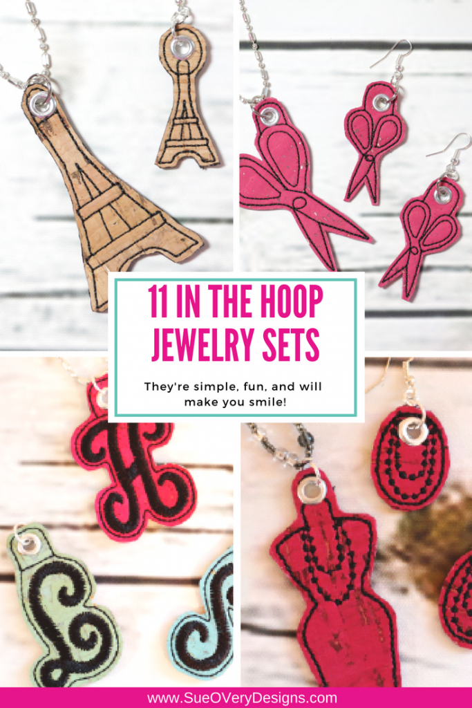 6 In the Hoop Jewelry sets - How to make In the Hoop Jewelry