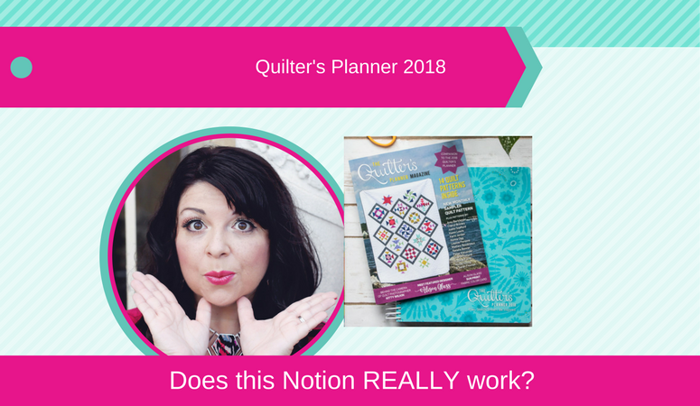 quilters planner 2018