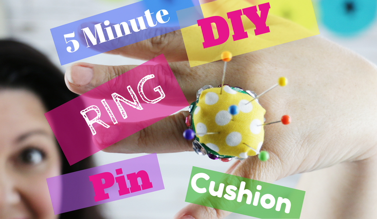 5 minute FREE, Easy, Fast and Super Glamours DIY Ring Pin Cushion