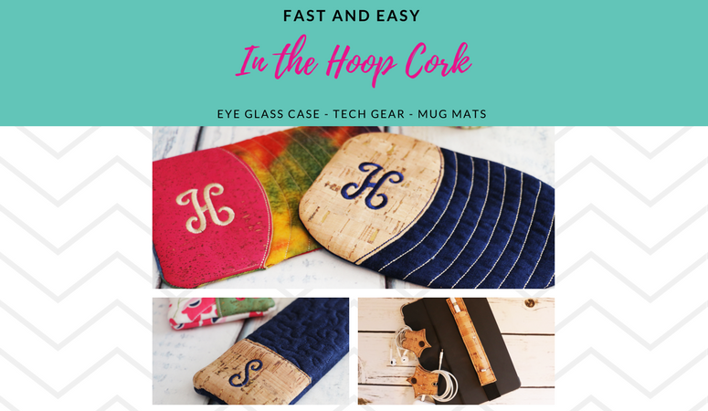 3 Fast and Easy Cork In the Hoop Scrap buster projects