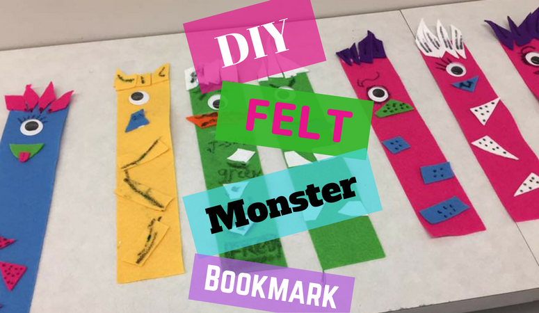 Kid Approved FREE – How to DIY Super Fast and Easy Felt Monster Bookmark